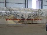 Pedra natural de mármore de Whtie da pintura de paisagem