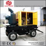 Uno mismo que prepara la bomba del motor diesel con el acoplado para la venta
