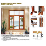 Feelingtop Aluminum Wooden Windows con Hardware Casing (FT-WW90)
