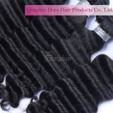Волосы цены по прейскуранту завода-изготовителя сотка связывают уток 100% волос волнистой девственницы малайзийский