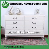 W-CB-437旧式な様式4の引出しの箱によって切り分けられる木の寝室の家具