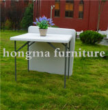 HDPE Plastic Folding Square Table für Outdoor Use