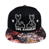 Gorra de béisbol caliente negra del Snapback de la venta con la insignia blanca Gjfp17168