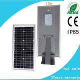 15W integriertes Solar-LED Straßenlaternesolar alles in einem LED-Solarlampen-Straßenlaterne-Solar-LED Lampen-Licht mit Sonnenkollektor