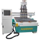 Atc новых головок сбывания 4 пневматический высекая деревянную машину CNC