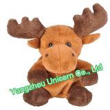Ce vulde de Dierlijke Amerikaanse elanden van het Stuk speelgoed van de Pluche van de Laag van Kerstmis van de Herten van Elanden