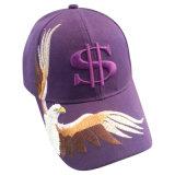 Gorra de béisbol de los 6 paneles con la insignia Bb201 del águila
