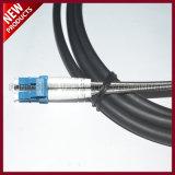 IP68는 LC 이중 단일 모드 OS2 광섬유 옥외 케이블에 연결관 FULLAXS를 방수 처리한다