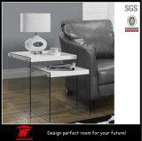 새로운 디자인 목제 중첩 소파 측 테이블 현대 유리제 커피용 탁자