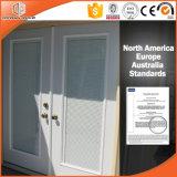 Fenêtre en aluminium battante en aluminium battante Stores intégrés Fenêtre intégrée d'inclinaison et de virage pour client afghan