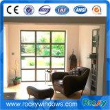 Алюминиевый Casement раскрывая верхнее фикчированное окно