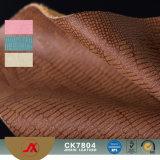 2017新しいデザインワニはハンドバッグおよびソファーの使用法のためのPVC革を浮彫りにする