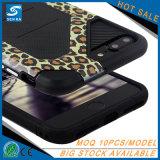 Cas de téléphone cellulaire d'armure d'impression de léopard pour l'iPhone 7