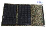 gab beweglicher Solaraufladeeinheit 7W Fodable Sonnenkollektor-Aufladeeinheit USB für iPhone, Samsung, Brombeere, iPod und alle mögliche USB-Einheiten mit die 23% Zellen-Leistungsfähigkeit aus (FSC-07A)
