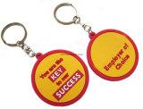 Großverkauf fördernde Geschenke kundenspezifischer GummiKeychain Plastik-Belüftung-Keychain