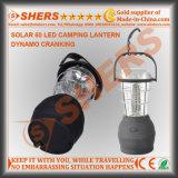 携帯用太陽60のLEDの太陽動力を与えられたキャンプのランタンのクランクを手で回すダイナモ