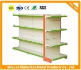 Double étagère de livre latérale de niveau de la bibliothèque sept, étagères de livre en acier de supermarché