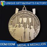 Metallo 2D di alta qualità o medaglia di oro 3D o medaglione su ordinazione