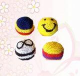 カスタマイズされた手はウールの球多色刷りPVC粒状の子供のおもちゃを編む