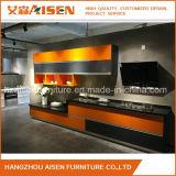 Mobília popular gabinete de cozinha linear personalizado da laca
