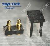 2pin flacher Pogo Pin-Verbinder mit Gehäuse