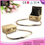 Il sacchetto di mano di cuoio di lusso dell'unità di elaborazione di colore dell'oro compone la casella (8087)