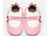 분홍색 숙녀 가죽 아기 신발