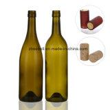 Garrafas de vidro para vinho tinto, vinho de uva 750ml