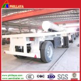 De volledige Aanhangwagen van de Trekbalk van het Vervoer van de Container van het Bed van 2 Assen Vlakke 20FT