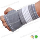 Cinta ajustável elástica & respirável cinzenta do pulso da sustentação do polegar da cinta da compressão