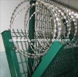 アコーディオン式かみそりの有刺鉄線の塀