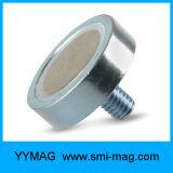 Neodym-Cup-runder niedriger Potenziometer-Magnet mit externem Gewinde-/Außengewinde