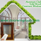 Окно Casement подвала древесины дуба алюминиевое, Casement Windows совершенной стойкости алюминиевый красный Oaken деревянный