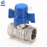 3/4 Inch Brass Lockable Ball Valve mit Nickel Coating