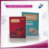 콘돔 런던은 박판으로 만들어진 콘돔 포장을%s 가진 줄무늬 콘돔을 포함한다