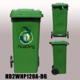 balde do lixo de borracha plástico da roda do escaninho de lixo 120L para ao ar livre