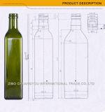 Bottiglia di vetro poco costosa del liquore del quadrato 500ml con il coperchio a vite (419)