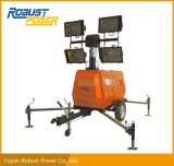 Torretta chiara mobile idraulica del generatore diesel portatile 4X1000W