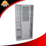 Шкаф для картотеки двери сползая стекла стальной, офисная мебель