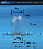 Frasco de vidro de Hexgonal dos produtos vidreiros sem chumbo desobstruídos
