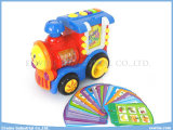 Study, Test, Music, Repeat Function를 가진 장난감 Train Insert Card Learning Machine Toys