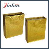Goldene Farbe mit heißem stempelndem Einkaufen-Geschenk-Papierbeutel anpassen