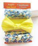 Venda al por mayor del Bowknot de la cinta de Hairband del algodón de los accesorios del pelo del bebé de la manera