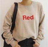 도매 싼 적합 편지 로고를 가진 우연한 순수한 색깔 스웨터 Hoody