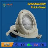 플라스틱 수영풀을%s 40W IP68 LED 수중 빛