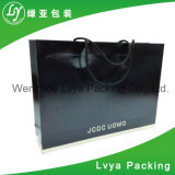 Sac de papier de noir de luxe au détail d'achats