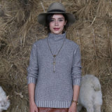 Migliore maglione di vendita del cachemire del pullover del collo delle donne del prodotto alto con migliore qualità