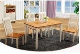 A cor natural simples de Solidwood que jantam a tabela da mobília e as cadeiras ajustaram-se