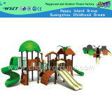 Green Tree Hhouse Outdoor Playground Equipment (HA-09701)