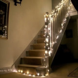 luz de hadas de la cadena de Saolr del banquete de boda de la Navidad 200LED